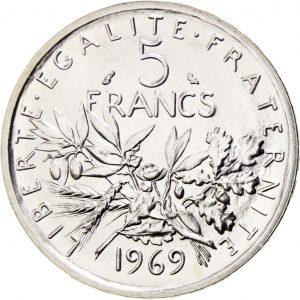 Achat 5 Francs semeuse Godot & Fils Versailles