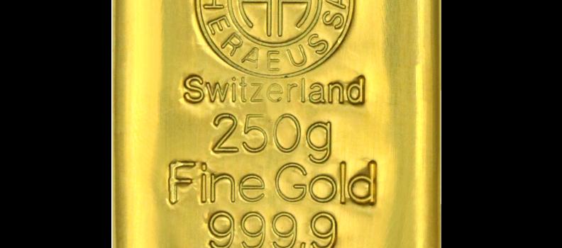 Investir dans le lingot 250 g or