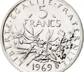 Investir dans la pièce de 5 francs semeuse